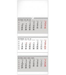 Wall calendar 3months Standard foldable with Czech names 2022