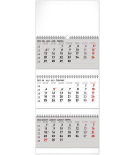 Wall calendar 3months Standard foldable with Slovak names 2022