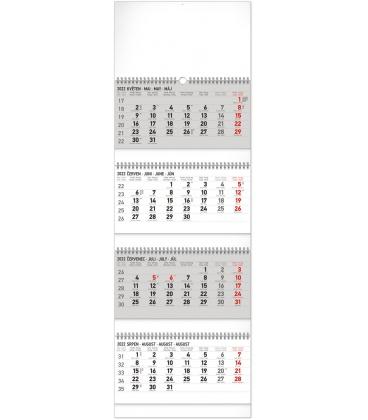 Wall calendar 4months Standard foldable with Czech names 2022