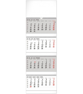 Wall calendar 4months Standard foldable with Slovak names 2022