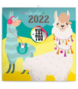 Wall calendar Happy Llamas 2022