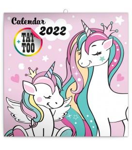 Wall calendar Happy Unicorns 2022