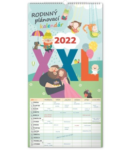 Wall calendar Family planner XXL SK 2022