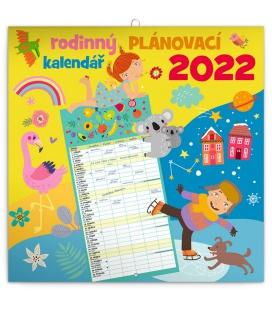 Wall calendar Family planner 2022