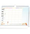 Table calendar Weekly school planner with hook 2022