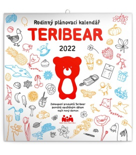 Wall calendar Family planner TERIBEAR 2022