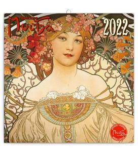 Wall calendar Alphonse Mucha 2022