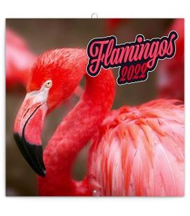 Wall calendar Flamingos 2022