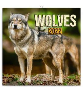 Wall calendar Wolves 2022