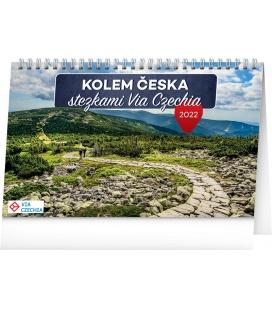 Table calendar Around Czech Republic Via Czechia 2022