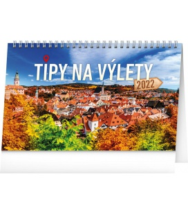 Table calendar Tips for Trips CZ 2022