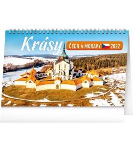Table calendar Czech and Moravian Beauty 2022