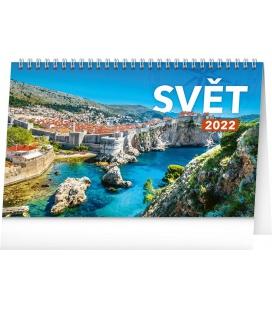 Table calendar The World 2022