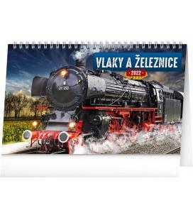 Table calendar Trains and rails 2022