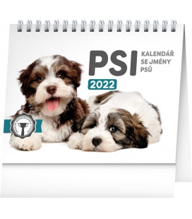 Table calendar Dogs – with dog names 2022