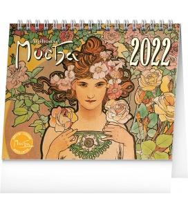 Table calendar Alphonse Mucha 2022
