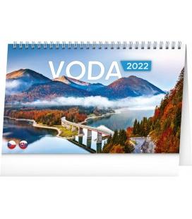 Table calendar Water CZ/SK 2022