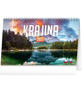Table calendar Landscapes CZ/SK 2022