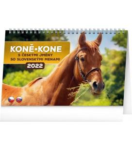 Table calendar Horses 2022