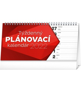 Table calendar Weekly planner lined 2022