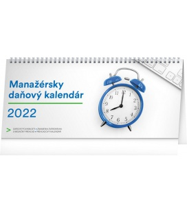 Table calendar Manager's weekly planner with taxes 2022