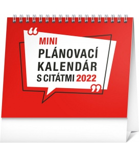 Table calendar Weekly planner with quotes 2022