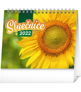 Table calendar Sunflower planner with quotes 2022