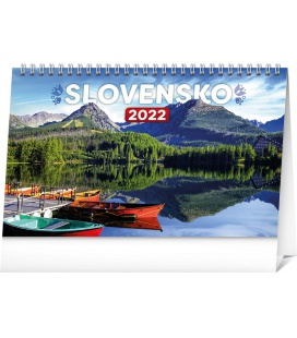 Table calendar Slovakia 2022