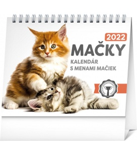 Table calendar Cats – with cat names 2022