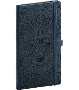 Weekly pocket diary Vivella Fun Wolf, black 2022