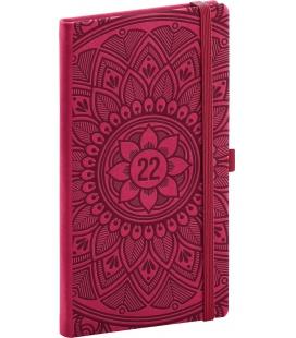 Weekly pocket diary Vivella Fun Mandala, red 2022