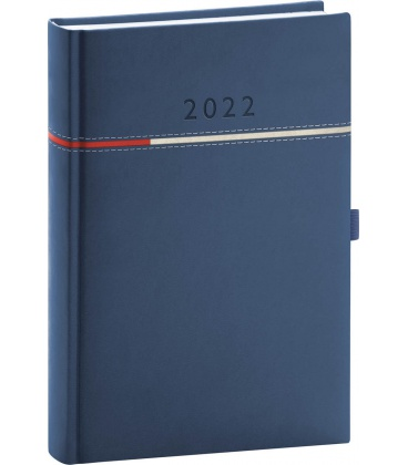 Daily diary A5 Tomy blue, red 2022