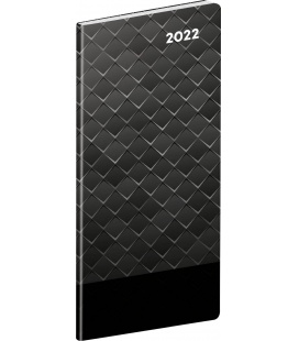 Monthly Pocket Diary planning Black metal SK 2022