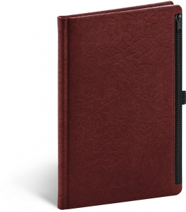 Notebook A5 Hardy, red, lined 2022