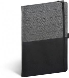 Notebook A5 Skiver, black, grey, lined 2022