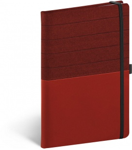Notebook A5 Skiver, red, burgundy, lined 2022