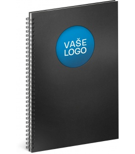 Notebook A4 Twin black, blue, lined 2022