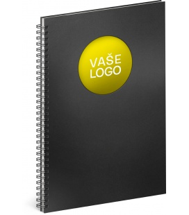 Notebook A4 Twin black, yellow, lined 2022