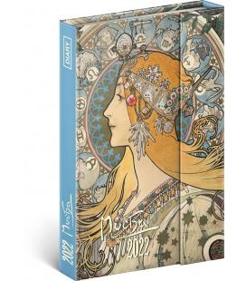 Magnetic weekly diary Alphonse Mucha 2022