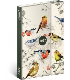 Magnetic weekly diary Birds 2022