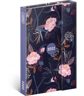 Magnetic weekly diary Flowers 2022