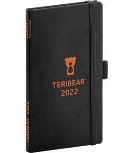 Weekly pocket diary Teribear black 2022