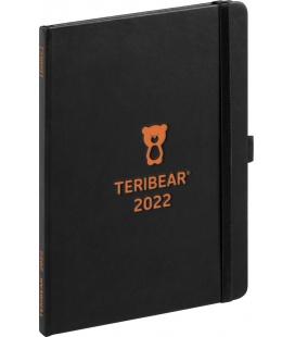 Weekly diary A5 Teribear black 2022