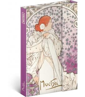 Notebook pocket magnetic Alphonse Mucha – La Dame, lined 2022