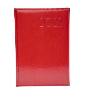 Weekly Diary B5 obšitý koženka red 2022