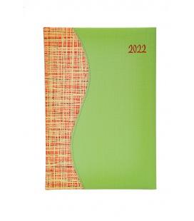 Weekly Diary B5 SIGMA Balacron green, orange 2022