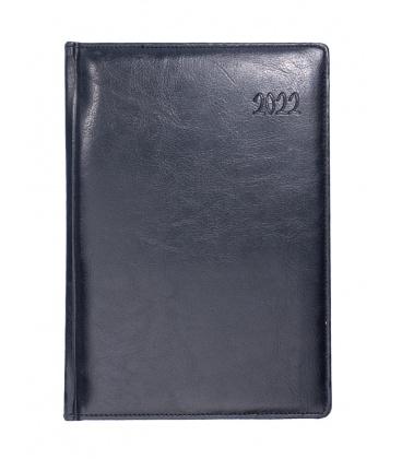 Daily Diary A5 721 koženka obšitá black 2022