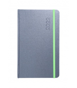 Weekly Diary - Notepad TREND Plátno grey, green 2022
