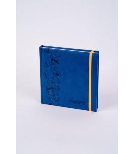 Notepad 4Q with rubber band Vivella/ražba Smajlíci blue, orange 2022