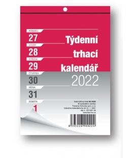 Wall calendar notepad A6 week  2022